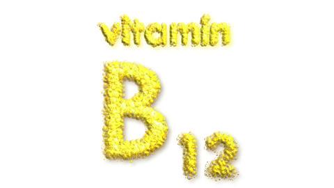 B12 Vitamin Stock Video Footage