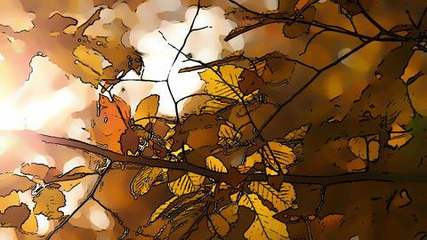 Beautiful Autumn Scene Comic Marvel 5 Footage