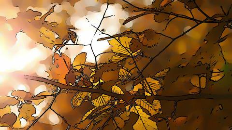 Beautiful Autumn Scene Comic Marvel 5 Stock Video Footage