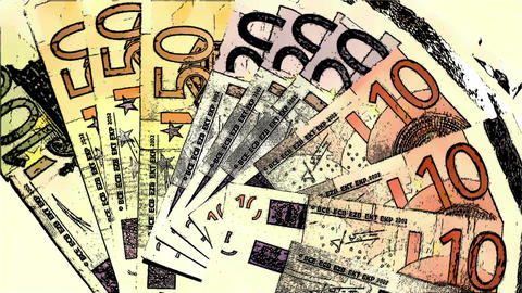 Euro Banknotes Comic Marvel 1 Stock Video Footage