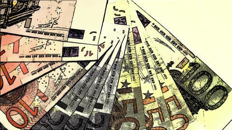 Euro Banknotes Comic Marvel 1 Footage