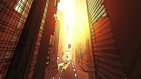 Future City Traffic Comic Marvel 4 Animation