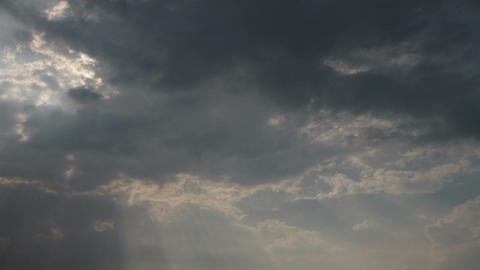 Godray Clouds Timelapse 1 Stock Video Footage