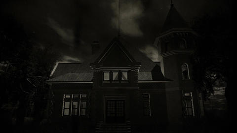 Haunted Scary House 5 vintage Stock Video Footage