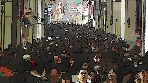 Japan Osaka Crowd Comic Marvel 2 Footage