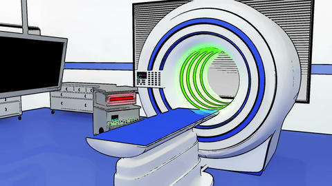 Operation Room MRI CT Machine Comic Marvel 1 Stock Video Footage