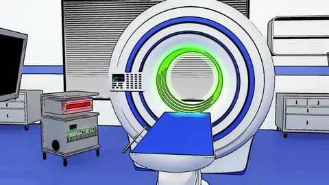 Operation Room MRI CT Machine Comic Marvel 1 CG動画素材