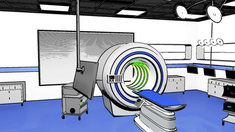 Operation Room MRI CT Machine Comic Marvel 3 Stock Video Footage