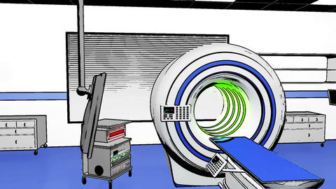 Operation Room MRI CT Machine Comic Marvel 3 Animation