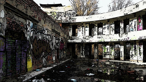 Scary Abandoned Building Domic Marvel 4 Stock Video Footage