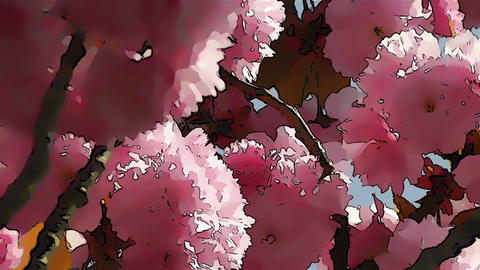 Springtime Blossoming Tree Comic Marvel 2 Stock Video Footage
