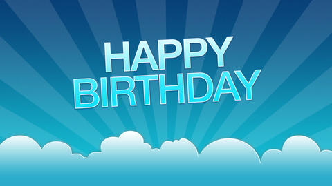 Blue Happy Birthday Advertisement Animation