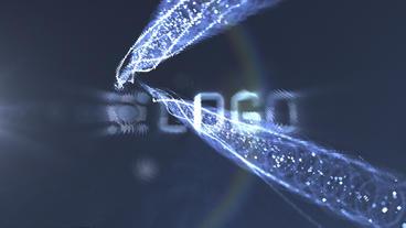 Light Trails Logo Reveal stock footage