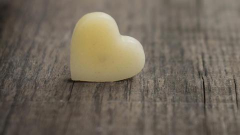 Wax Heart stock footage