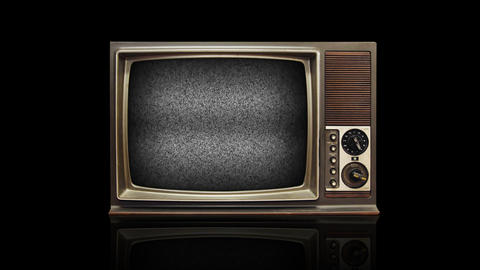 Retro Television stock footage