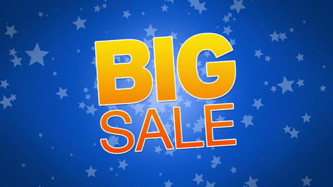 Big Sale Advertisement Stock Video Footage