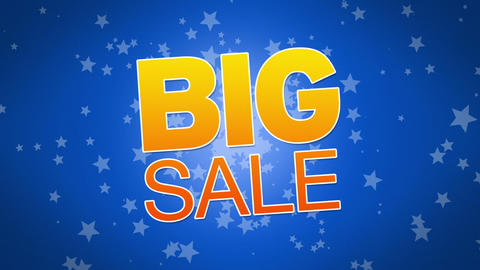 Big Sale Advertisement Stock Video Footage
