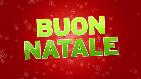 Merry Christmas (In Italian) Stock Video Footage