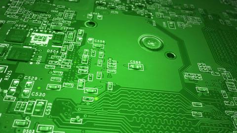 Green Circuit Board Stock Video Footage