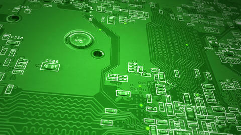 Green Circuit Board Animation