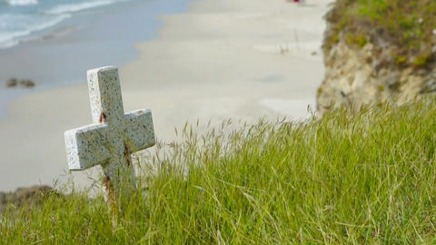 Tombstone Slider Shot Stock Video Footage