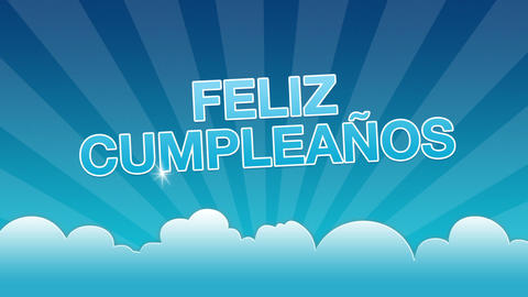 Happy Birthday Advertisement (In Spanish) Animation