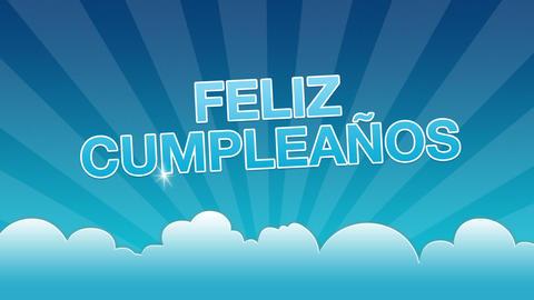 Happy Birthday Advertisement (In Spanish) Stock Video Footage