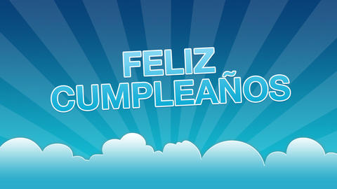 Happy Birthday Advertisement (In Spanish) Stock Video Footage