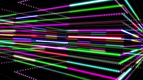 Neon tube R b A 2 HD Animation