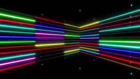Neon tube R b B 2 HD Animation