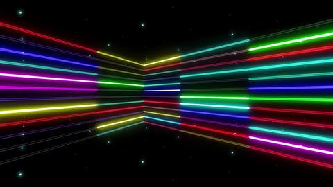 Neon tube R b B 2 HD Stock Video Footage