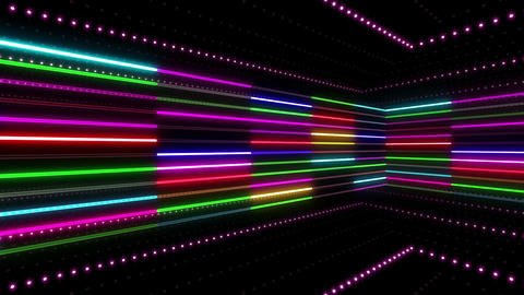 Neon tube R b C 2 HD Animation