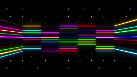 Neon tube R b D 2 HD Stock Video Footage