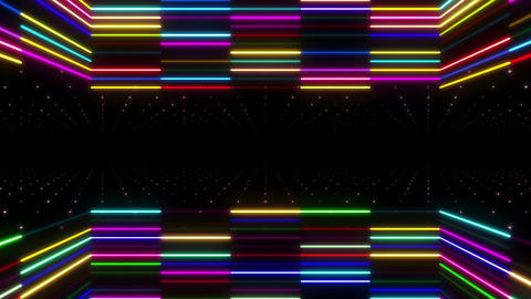 Neon tube R b E 2 HD Stock Video Footage