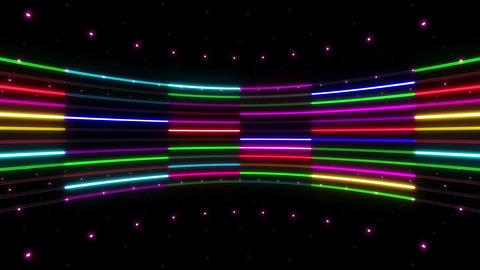 Neon tube R c B 2 HD Stock Video Footage