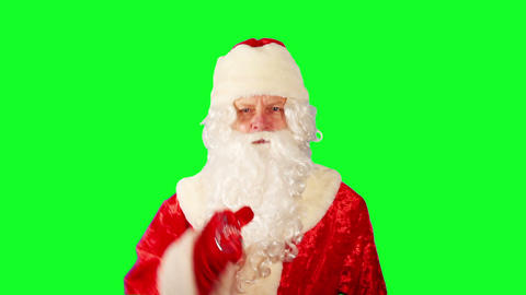 Close-up Of Santa Claus stock footage