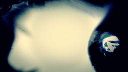 Eye nightmare distortion blue Stock Video Footage