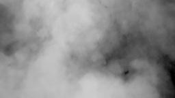 Grey smoke black background long volcano Stock Video Footage