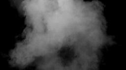 Grey smoke black background steam Footage