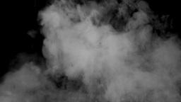 Grey smoke black background steam Stock Video Footage