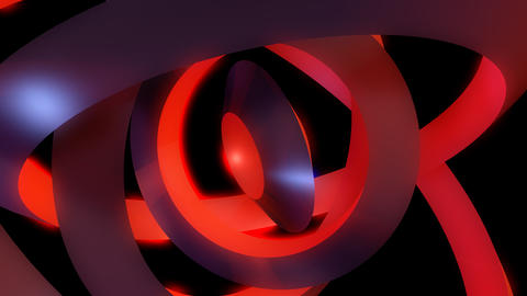 glow orbital rings with alpha Stock Video Footage