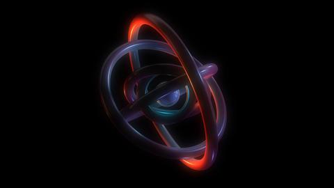 orbit torus rings with alpha Stock Video Footage