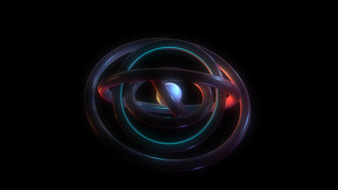 orbit torus rings with alpha Stock Video Footage