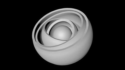 orbital white hemisphere Animation
