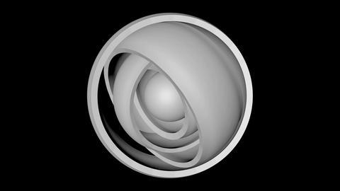 orbital white hemisphere Stock Video Footage