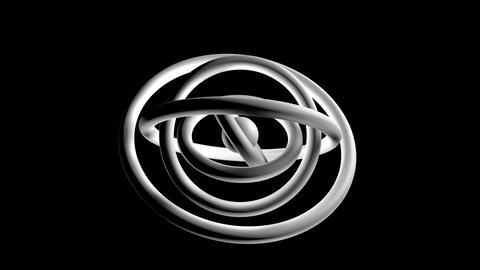 white torus orbit Stock Video Footage