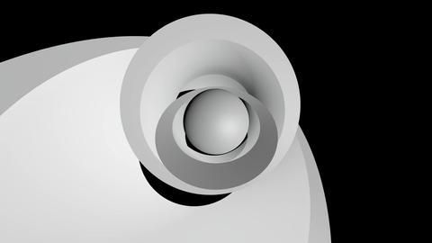 white ball orbits Stock Video Footage