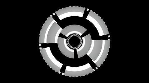 gear spinning matte Animation