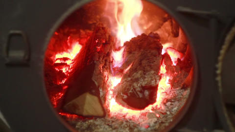 Wood Burning Stove Footage