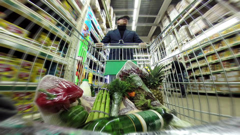 Shopping in the Supermarket HD Stock Video Footage